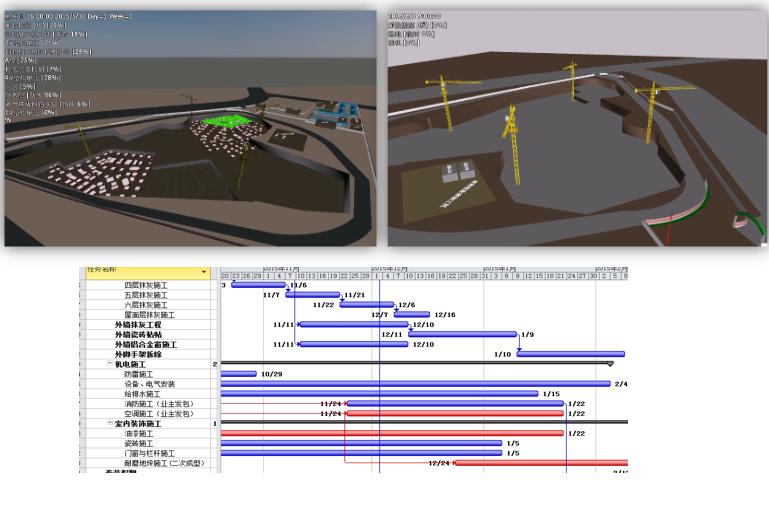 建筑BIM解决方案施工阶段——施工进度模拟
