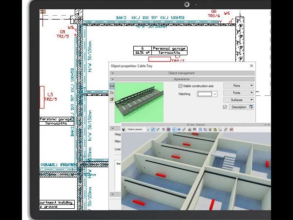 ArCADia建筑BIM电缆管道设计软件