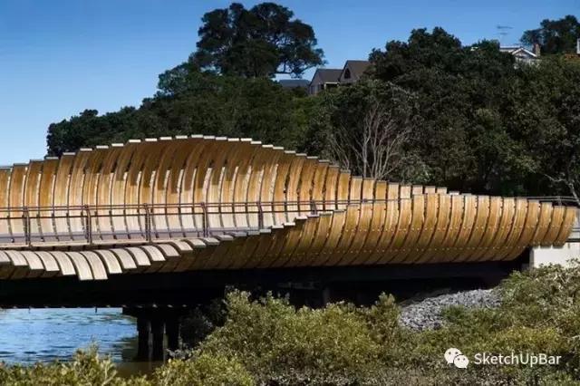 6步就能完成一个景观桥建模!