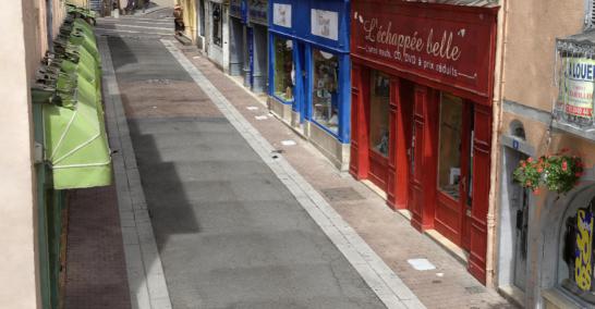实景建模街道模型