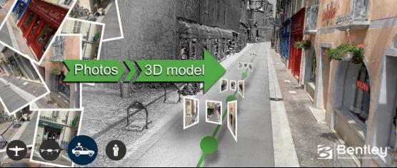 街道照片还原成实景模型