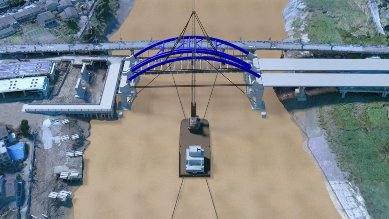 无人机航拍通过建立BIM模型合成到实景模型当中