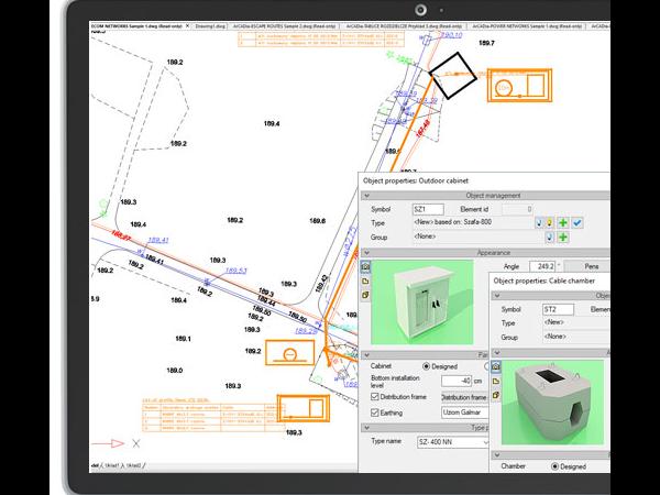 ArCADia建筑设计BIM ——外部电信网络(光纤和铜介质)设计