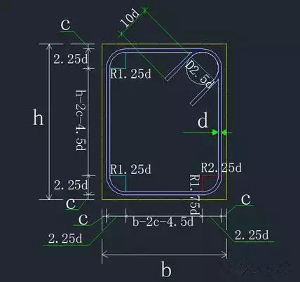 手工算钢筋下料步骤和方法