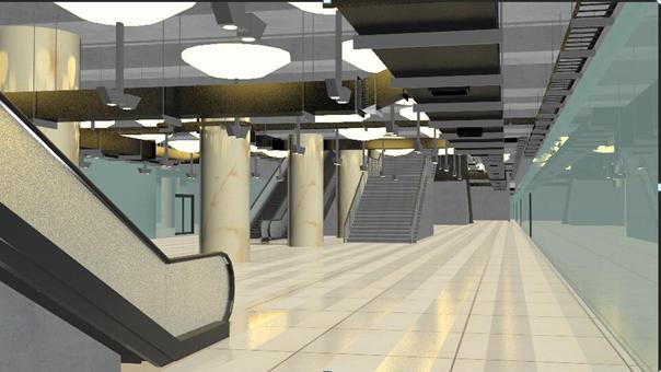 地铁BIM成果展示(部分)-B3BIM可视化(渲染与漫游)效果