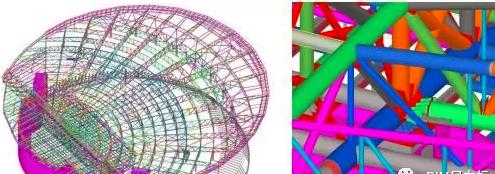成都大魔方演艺中心BIM项目使用Tekla软件绘制模型及节点