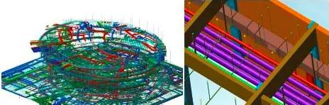机电管线模型及局部细节展示