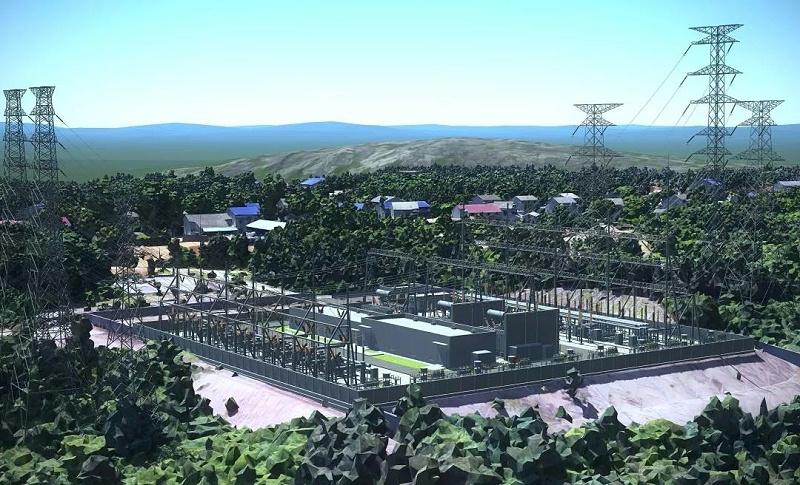 汩罗西 220 kV变电站项目三维技术应用