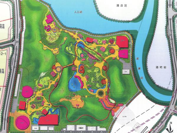 重庆万达室外主题乐园土方量计算分析