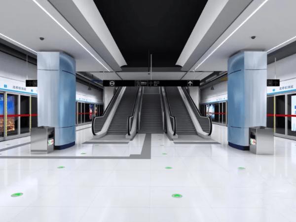 青岛地铁一号线车站空间一体化设计BIM设计